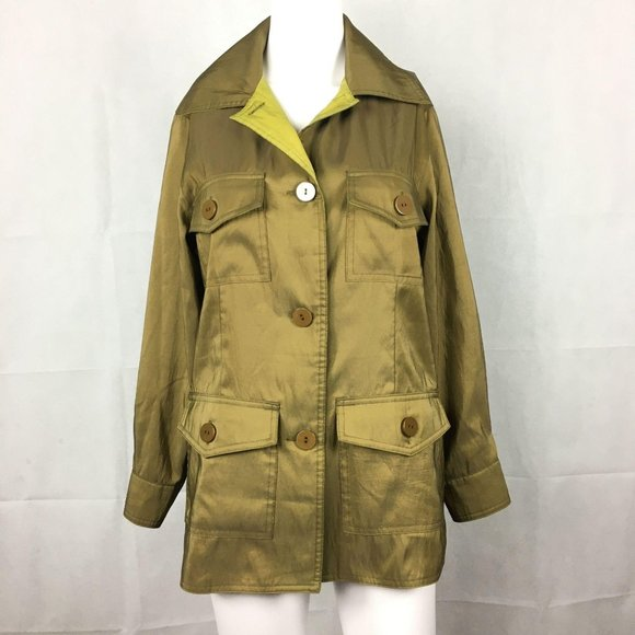 Mycra Pac Green Cargo Jacket Sz 0 Short Trench